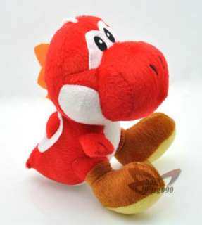 Super mario bros red yoshi 7 soft plush toy doll MT109