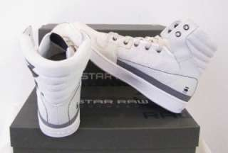 Star Shoes Integer Hi Leather and Textile Designer White Men New