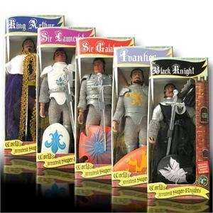 Super Knights Complete Set of 5 Re issue Action Figures: Toys & Games