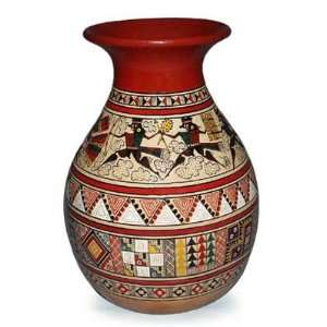 Ceramic vase, Inca Warriors Home & Kitchen