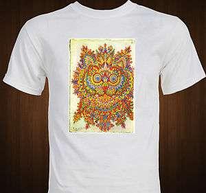 Louis Wain Cat Art Mandala T Shirt