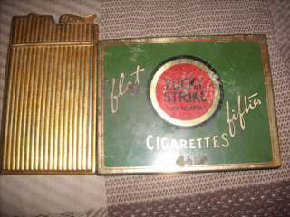 1945 CIGARETTE LIGHTER CASE WITH LUCKYSTRIKE TIN