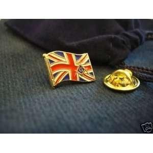 UK British Flag Union Jack HAT TIE OR LAPEL PIN