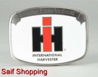 International Harvester IH Farm Tractor Diecast Cowboy Belt Buckle