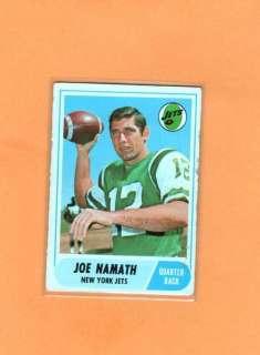1968 TOPPS JOE NAMATH #65 JETS VGEX *H8072