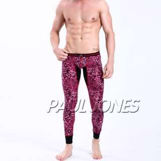 Soft Mens thermal Long Johns underwear Legging pants,Leopard designer