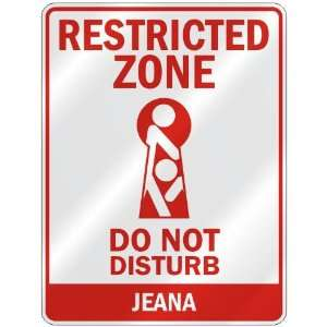 RESTRICTED ZONE DO NOT DISTURB JEANA  PARKING SIGN: Home Improvement