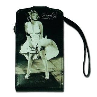 Licensed Black Marilyn Monroe Horizontal iPhone Pouch with Image of