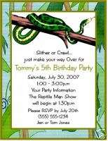 Snake Snakes Reptile Birthday Party Invitations Custom On Popscreen