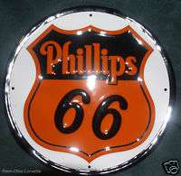 PHILLIPS 66 GASOLINE 12 Metal Tin Sign
