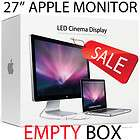 EMPTY BOX Apple 27  LED CINEMA DISPLAY MAC MONITOR EMPTY BOX!!!