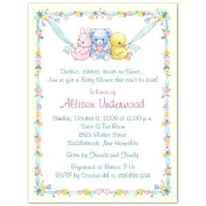 Little Ones Baby Shower Invitations   Set of 20: Baby