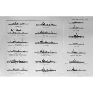 1953 54 Ships Hubuki Kagero Mutuki Kosyu Mamiya Zingei