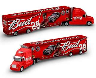 KEVIN HARVICK 2011 #29 BUDWEISER HAULER DIECAST 164 SCALE ACTION