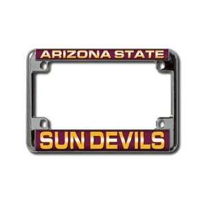 Arizona State Sun Devils Chrome Motorcycle License Plate