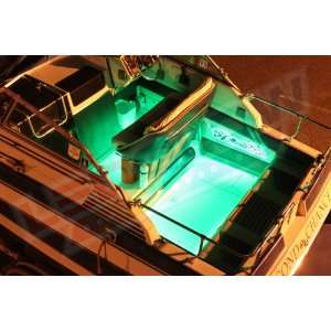 8pc Green LED Boat Deck & Cabin Lighting Kit: Sports & Outdoors