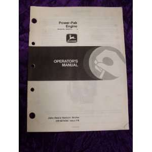 John Deere Power Pak Engine OEM OEM Owners Manual John Deere Books