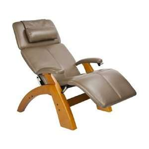 Manual Zero Gravity Recliner with Maple Base, Cashew Bonded Leath