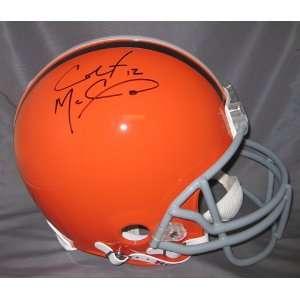 Colt McCoy Autographed Cleveland Browns Proline Helmet