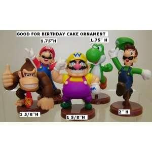Figure Tiny Mini Mario Luigi Yoshi Wario Donkey Kong Toys & Games