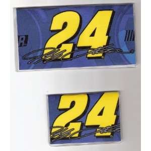 Checkbook Cover Debit Set Made with Jeff Gordon #24 Blue NASCAR Fabric