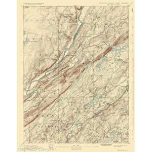 USGS TOPO MAP WALLPACK QUAD NEW JERSEY PA/NJ 1893