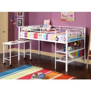btld46wh twin loft bed w storage and desk white furniture decor