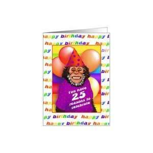 25 Years Old Birthday Cards Humorous Monkey Card Toys