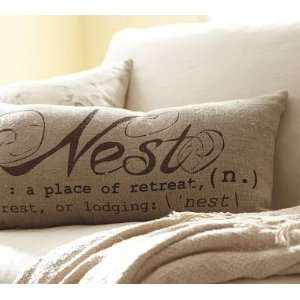 Pottery Barn Nest Sentiment Lumbar Pillow: Home & Kitchen