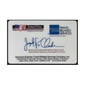 Collectible Phone Card: Joseph K Clarke   American Express