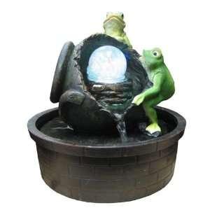 with Broken Jar Color LED Lights Indoor Water Fountain