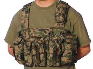Pocket Chest Rig Mag Holder Vest   Digital Woodland Camo