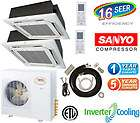 Mini Split Ceiling Cass. Ductless Air Conditioner Heat Pump 30000 BTU