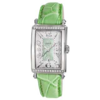 Gevril Womens 7246NT Avenue of Americas Green Diamond Watch