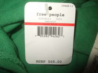 NWT $68 Free People Beach Anthropologie Sexy Emerald Green Racer Dress
