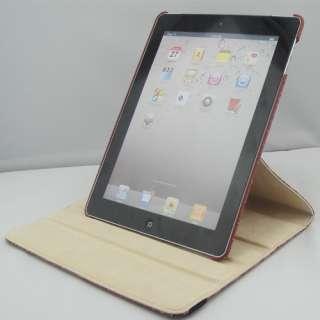 iPad 2 360° Smart Cover Crocodile Pattern Leather Case w/ swivel