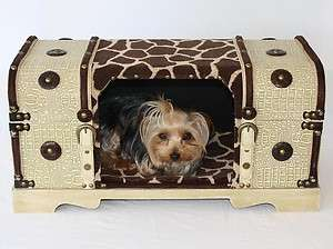 Designer Hide A Bed & Dog cat carrier Pet travel Crate top opens