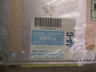88 1988 TOYOTA COROLLA GTS 4AGE AE92 ECU ECM ENGINE COMPUTER 89661