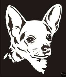 Chihuahua Decal Sticker   Car Truck Window Laptop