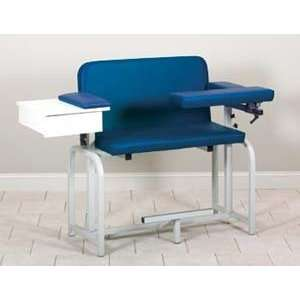 Extra tall & wide blood drawing chair with drawer and flip