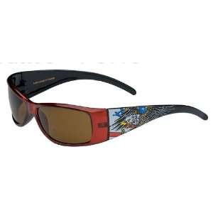 Red American Flag Eagle Motorcycle Sunglasses  Frontiercycle(Free U.S
