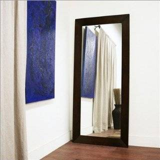 Baxton Studio Daffodil Floor Mirror in Dark Brown