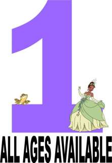 Princess and the Frog Birthday or Everyday Iron on Transfer