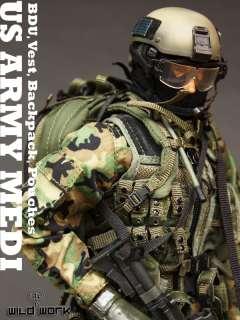TC81 01 1/6 Wild Work   US Army Medic Uniform Set
