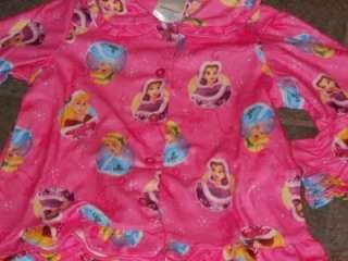 NWT Disney Princess Pink Christmas 2 Pc Pajama Set 3T