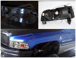 1994 2001 DODGE RAM 1500 LED HEADLIGHTS 1997 1998 1999 CHROME