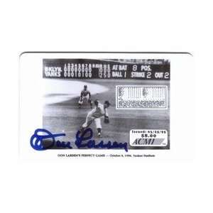 Collectible Phone Card $8. Don Larsens Perfect Game Commem   Yankee