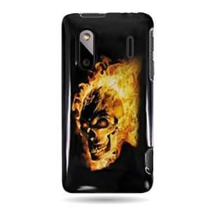 Hard Snap on Shield with FIRE SKULL Design Faceplate Cover Sleeve Case