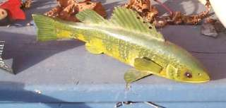 painted Green Ice fishing Spearing Wood Fish Decoy Wooden Lure