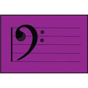 Bass Clef Purple Mousepad